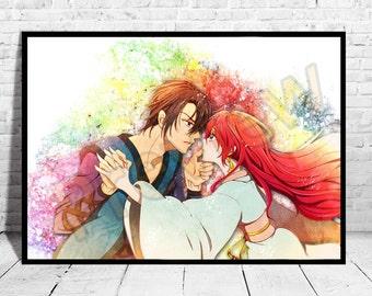 Akatsuki no Yona,Anime Poster, Top Quality Poster, Anime Watercolor, Anime Print, Canvas,Buy any 2 get 3rd FREE,Naruto Poster, SAO, AG62