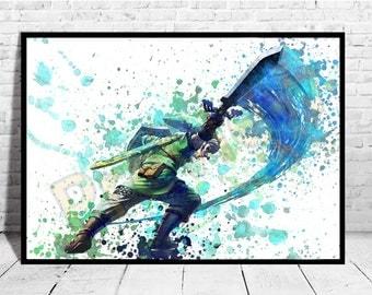 The Legend of Zelda Wall Decor, Game Art, The legend of Zelda, Zelda Poster,AG159