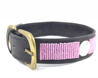 Beaded dog collars,Maasai dog collars,dog leather collars,Kenya dog collars,Beaded dog collar,African dog collars