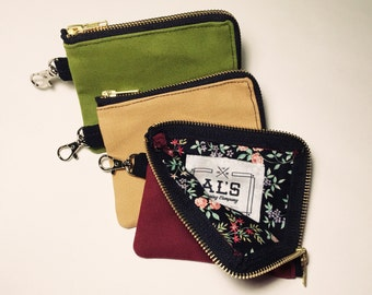 Zipper Pouch With Clasp