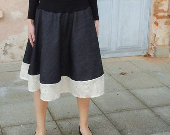 Half Circle Skirt-half wheel skirt spring summer