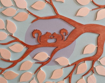 Wedding TreeGuestbook squirrel