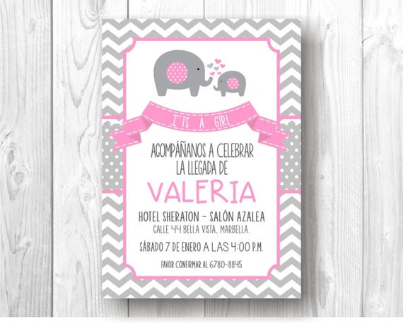 Baby Shower Status For Whatsapp ~ Invitaci�n digital de elefantes para baby shower