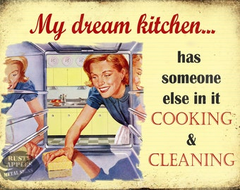My Dream Kitchen Funny Vintage Retro Metal Sign  Kitchen Home Decor Ideal Gift
