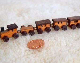 Vintage Wooden Miniature Train, Vintage Choo Choo Train, Loquai, W. Germany, Vintage German wooden train toy, Vintage Nursery Decor