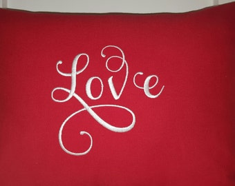 LOVE PILLOW COVER- 12 x 16 Pillow Cover- Valentine Gift- Romantic Gift-