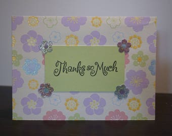 Thanks so Much Card, Pastel Flowers