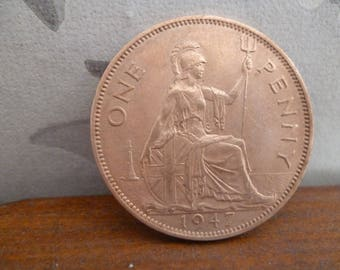 1947 One Penny coin