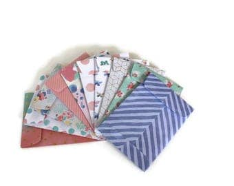 Gift card envelopes, Mother's Day Gift card holders, Watercolor print Gift Card Holders, coin envelopes, money envelopes, set of 10