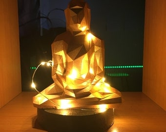 Lamp lowpoly 3dprinting lamp Buddha statue