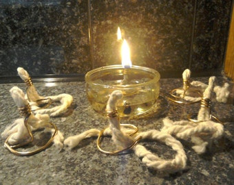 10 Emergency oil lamps with 5 wicks. Camping,prepping,zombie apocalypse