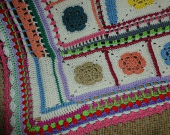 BOHO baby blanket, cuddle-, crawl and blankie 115 x 120 cm