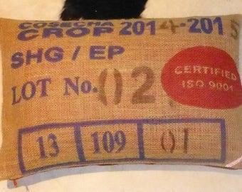 """Pillowcase original coffee bag cushion """"Cosecha"""", 60 x 40 cm"""