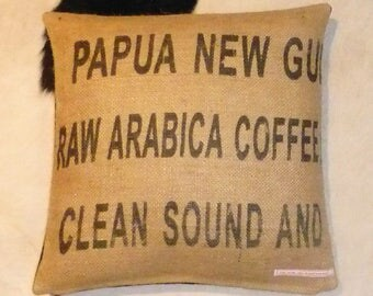 "Coffee bag cover, cushion ""PAPUA"", 40 x 40 cm"