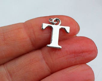 One Letter T, Alphabet Charm, T, Letter T