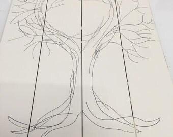 mr and mrs wedding thumbprint tree