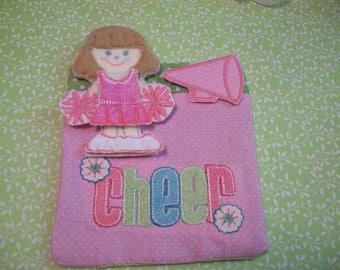Cheerleader Flat Doll Mini Play Set