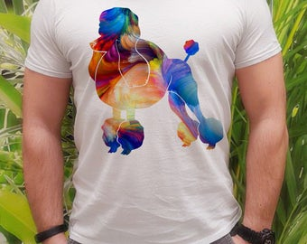 Poodle tee - Poodle t-shirt -  Fashion men's apparel - Colorful printed tee - Gift Idea