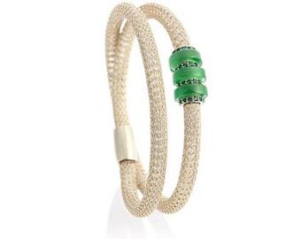 Emerald on Ice Gold Bella Duo Bracelet
