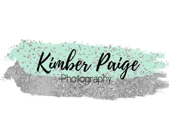 Premade brush stroke photography logo -Customizable