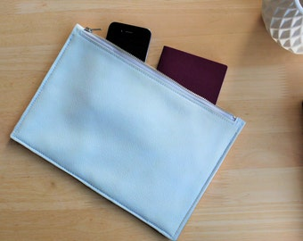 Genuine leather tablet case, ipad case, white