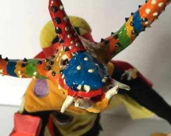"Striped Colorful Mini Vejigante Mask #4 -- 5""across"