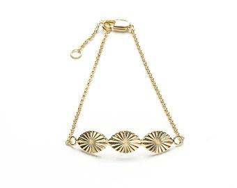 Bracelet frivolous 24KT Gold plated brass