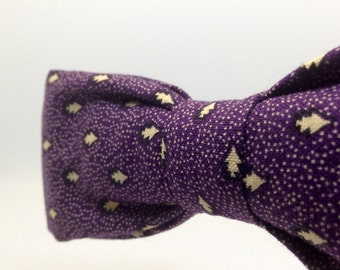 Handmade Purple Pattern Bow Tie