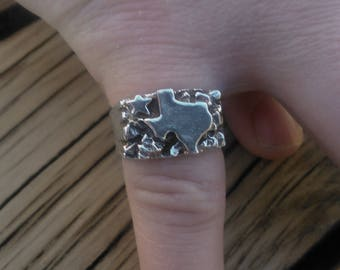 Sterling Silver Texas Ring