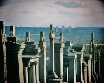 Glasgow Necropolis Photo, Glasgow Necropolis Print, Photos of Glasgow, Graveyard Photo, Graveyard Print, Gravestones, Glasgow Picture