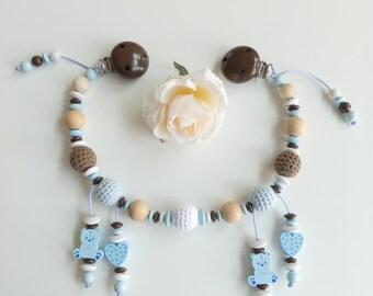 Stroller chain crochet Alder heart bear