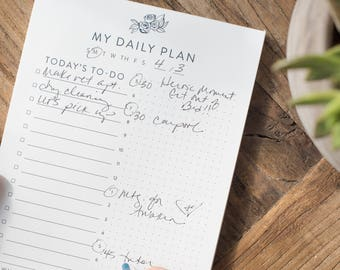 My Daily Plan Notepad