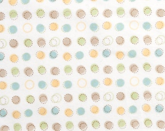 Fitted Crib Sheet and Pack N Play SET Neutral Dots
