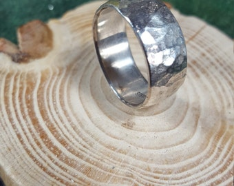 Textured Sterling Silver Ring Size 8.5.