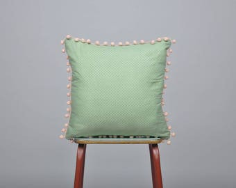 Cushion, Scatter cushion, Pillow, Home Wares, Home decor, Gift, 100% cotton, Pom poms