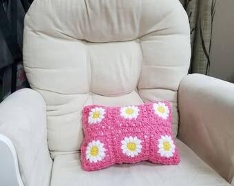 Daisy Flower Pillow