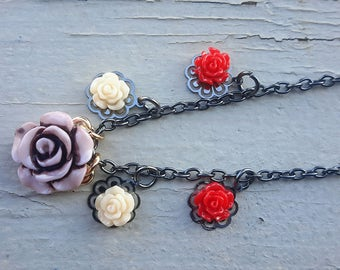 Rose necklace • 18 inches • bridesmaid gift • graduation gift