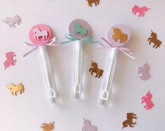 Bubble Wands, Unicorn Party Favors