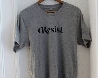 "Heather Grey ""Resist"" Graphic Tee"