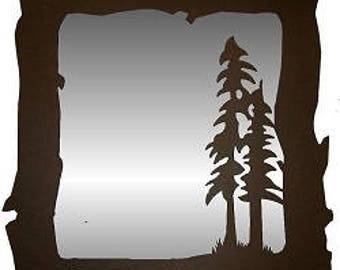 Vertical Mirror - Tree Design