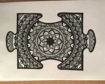 Puzzle Piece Mandala