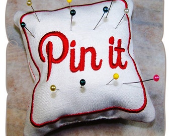 Pin It Pincushion In The Hoop Embroidery Project-INSTANT DOWNLOAD