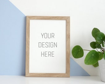 Stock Photography, Wood Frame Mock Up, Product Mockup, Frame Mockup, Wall Art Display Template, Empty Frame, Frame Mock UP