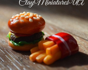 Polymer burger and fries
