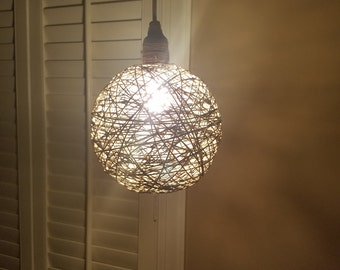 Hanging Hemp Lamp, Hemp Lamp, Hemp, Hanging Light, Light, Jute, Jute Light, Hanging Jute Light, Lamp, Hanging Light