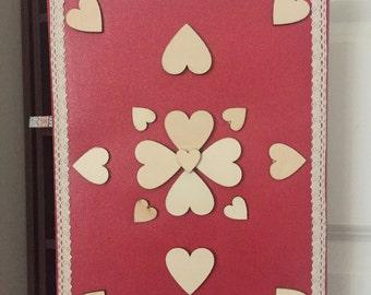 Handmade heart canvas
