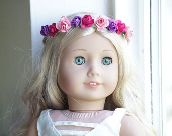 Flower Crown for 18 inch dolls - Gorgeous Shades