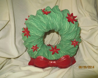 Wreath with poinsettia based looping