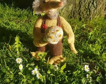 Rockin' Troll hand knitted toy