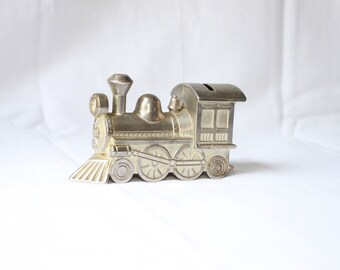 Cast Metal Train Engine Bank